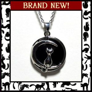 Jewelry - Cat Moon Black Agate Gemstone Necklace